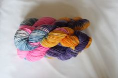Candy Shop hand dyed worsted weight yarn by Arctickrafts on Etsy