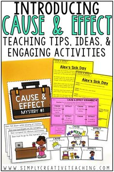 These cause and effect activities are perfect for 2nd grade, 3rd grade, or 4th grade students, including special education classrooms. This cause and effect teaching unit is perfect for introducing this skill. This introduction to cause and effect contains lessons, worksheets, puzzles, graphic organizers & diagrams, reading passages, mystery activities, matching activities, examples, and more. You can also use these hands on games and activities as formative assessment if needed!