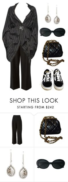 """""""Untitled #807"""" by lucyshenton ❤ liked on Polyvore featuring 3.1 Phillip Lim, Chanel, Saqqara, Yves Saint Laurent and Vans"""