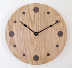 Oak Wall Clock by DebsWoodshop on Etsy, $125.00