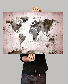 Large World Map World Map Art Print World Map by FineArtCenter