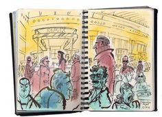 From David Small's sketchbook. I love this artist's use of line.