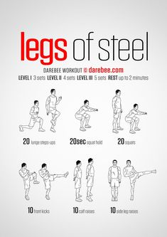 Your quads are the largest single muscle group in the body and your legs are needed to get you anywhere which is why the Legs of Steel workout will supercharge your quads and give you the kind of leg power that marks warriors from the rest.