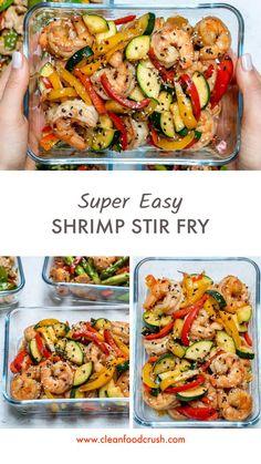 Shrimp Stir-Fry for Clean Eating Meal Prep! - Super-Easy Shrimp Stir-Fry for Clean Eating Meal Prep! – Clean Food Crush -Super-Easy Shrimp Stir-Fry for Clean Eating Meal Prep! - Super-Easy Shrimp Stir-Fry for Clean Eating Meal Prep! Stir Fry Meal Prep, Lunch Meal Prep, Healthy Meal Prep, Fitness Meal Prep, Food Meal Prep, Weekly Food Prep, Easy Healthy Meals, Lunch Meals, Healthy Breakfasts