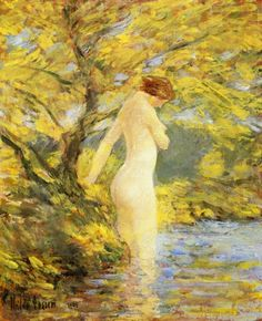 Nymph Bathing, Frederick Childe Hassam