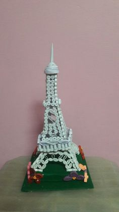 My version eiffel tower using quilling paper. This is for my angles