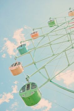 Muted pastel color board photo of a vintage ferris wheel. Summer Aesthetic, Blue Aesthetic, Photo Wall Collage, Picture Wall, Fred Instagram, Carnival Rides, Amusement Park, Belle Photo, Aesthetic Pictures