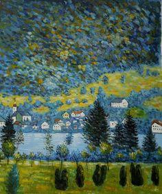 Gustav Klimt Landscapes | Pendio Montano a Unterach by Gustav Klimt