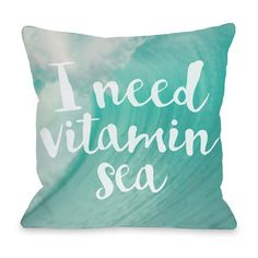 OneBellaCasa 'Vitamin Sea' Outdoor Throw Pillow ($35) ❤ liked on Polyvore featuring home, outdoors, outdoor decor, outdoor throw pillows, outdoor garden decor, outdoor accent pillows, outdoor patio decor and outdoor pillows