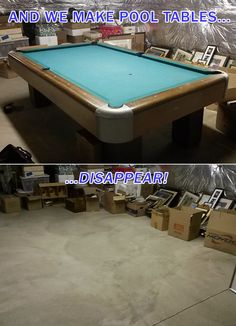 Pool Table Removal In Frederick Maryland