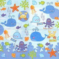 3297 Servilleta decorada infantil