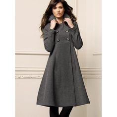 Victoria's Secret - Double-breasted A-line coat in twill