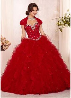 Fabulous Ball Gown Prom Dress... just without shoulder cover thingy