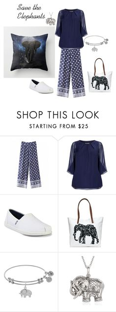 """""""Save the Elephants"""" by tamberlyr on Polyvore featuring Studio 8, Skechers, Crown & Ivy and La Preciosa"""