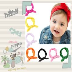Mother & Kids Sporting Kids Girls Headband Diy Rabbit Ears Shaped Bow Hairband European And American Style Headscarf Baby Holiday Hair Accessories Buy Now Accessories