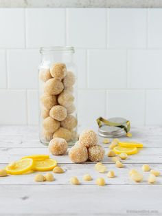 Lemon, Macadamia & Coconut Raw Truffles