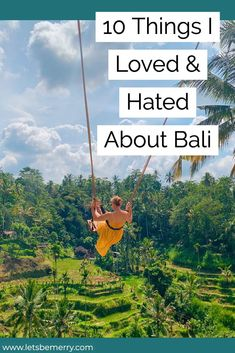 An honest critique about the things I loved and hated about Bali plus a list of things to do in Ubud, Seminyak and Sumberkima. #bali #traveltips #seasia