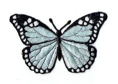 Butterfly Discover Large - Butterfly - Lilac/Black - Iron on Applique - Embroidered Patch - Large - Butterfly - Lilac/Black - Iron on Applique - Embroidered Patch - Embroidery Patches, Embroidery Applique, Embroidery Patterns, Machine Embroidery, Embroidered Patch, Butterfly Lighting, Cute Patches, Cool Iron On Patches, Largest Butterfly