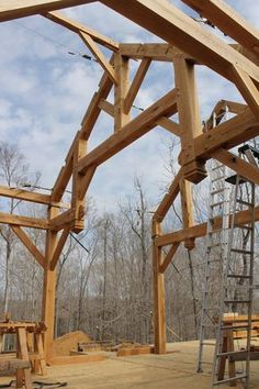 Timber Frame Addition - Homestead Timber Frames - Handcrafted Timber Frames