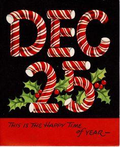 #Christmas #greeting #1950's