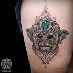 Mosaic Squirrel Monkey