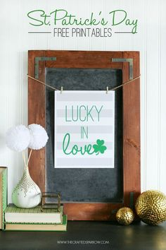 St. Patrick's Day Printables, 4 Color Choices to Print including Gold Foil! - thecraftedsparrow.com