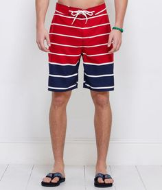 Adam: Mens Swimwear: Nautical Stripe Board Shorts for Men - Vineyard Vines