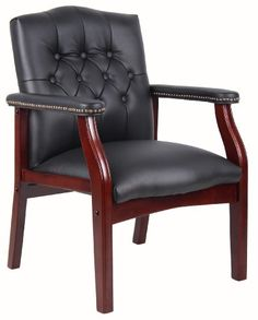 Boss Office Products B959-BK Ivy League Executive Guest C...