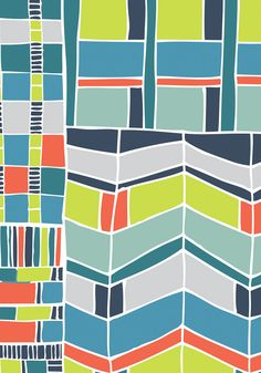 Jessica Hogarth pattern Love these colours and the repetition of shapes.