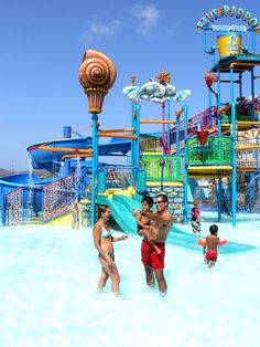 Spend a day of fun in Aruba with the family at De Palm Island - kids will enjoy the waterpark - be prepared to get soaked!