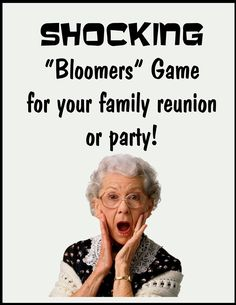 Party game- shocking bloomers game- perfect game for family parties or your family reunion- they're going to love this reunion game idea!