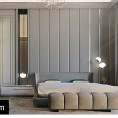 Minotti Creed bed and Freeman bench. Available design credit Modern Bedroom Design, Master Bedroom Design, Contemporary Bedroom, Home Decor Bedroom, Bedroom Bed, Master Suite, Modern Contemporary, Luxury Interior, Room Interior