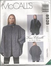 McCalls Sewing Pattern 8528, Faux Chenille Jacket, Size 6 - 24, Uncut