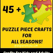 Puzzle piece crafts are easy, inexpensive and fun to do. Lots of inspiration for crafts using pieces that you would throw away. Adult and kid's crafts! Puzzle Piece Crafts, Puzzle Art, Puzzle Pieces, Projects For Kids, Crafts For Kids, Craft Projects, Craft Ideas, Diy Ideas, Senior Activities