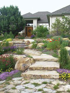 front yard garden -- no lawn