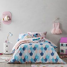 Mermaid Dreaming Quilt Cover Set - Adairs Kids