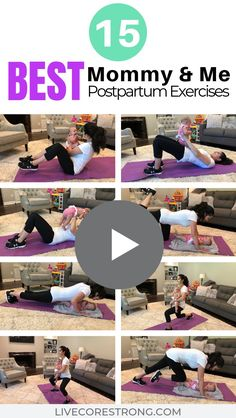 If you are looking for a great Mommy and Me workout to do with your BABY when you are postpartum, then enjoy this 15 exercise total body routine. Full description of each exercise plus YoutTube VIDEO to help you lose that post baby weight, get healthy and After Baby Workout, Post Baby Workout, Post Pregnancy Workout, Mommy Workout, Pregnancy Tips, Baby Belly Workout, Fat Workout, Fitness After Baby, Baby Weight Workout