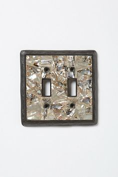 Anthropologie Mother-Of-Pearl US Switchplate  US$38.00-$58.00