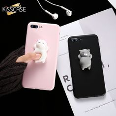 Cute Silicon Cartoon Cat Cases For iPhone #Iphone5s #IphoneCases