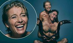 Emma Thompson and husband Greg Wise pose naked with dead fish Emma Thompson, Greg Wise, Dead Fish, Absolutely Fabulous, Celebrity Couples, Lifehacks, Mail Online, Daily Mail, Ems