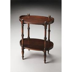 Other Handcrafted Home Accents 160657: Butler Kirsten Plantation Cherry  Oval Side Table, Plantation Cherry