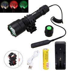 Cheap light hunting, Buy Quality torch hunting directly from China mount hunting Suppliers: Tactical lIGHT XML LED Hunting Light Torch+ Mount +Pressure Battery+USB Charger+USB Line Red Light Flashlight, Led Flashlight, Tactical Light, Hunting Equipment, White Led Lights, 18650 Battery, White Lead, Charger, Usb