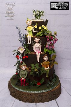 """Woodland Seasons"" cake - part of the Fairytale Forest collaboration at Birmingham CI - Cake by Cakes By No More Tiers (Fiona Brook)"