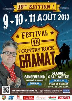 10ème édition du Festival Country-Rock de Gramat, com 2013.
