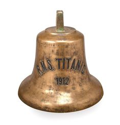 The 1912 Bell from the Titanic found on the sea floor.
