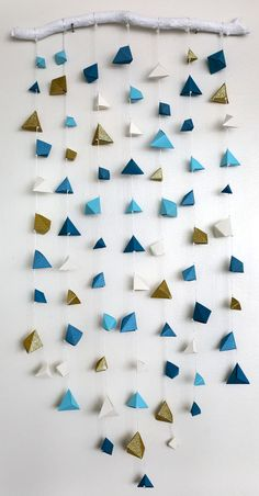 Custom Baby Mobile Made of Geometric Origami, Great for Backdrops, Wall Hanging, or Home Decor