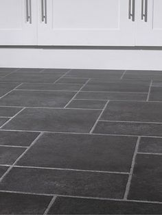 Slate Vinyl Tiles Google Search House Flooring Bathroom Grey Kitchen