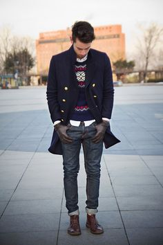 27 Inspiring Men Work Outfits With Boots   Men's Fashion   Menswear   Men's Outfit Idea for Christmas   Moda Masculina   Shop at designerclothingfans.com