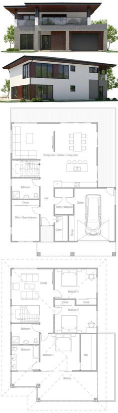 Modern House Plan 76317 Total Living Area 1852 sq ft, 3 - badezimmer a plan