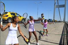 7/19/15 Via WTA:  ISTANBUL, Turkey - Ten years ago, Venus Williams was the star attraction at the TEB BNP Paribas Istanbul Cup, which was celebrating its very first year on the WTA calendar ... And on Monday, a decade after that iconic hit with Turkey's Ipek Senoglu on the Bosphorus Bridge, Williams did it again, this time with two more of Turkey's biggest stars - the country's No.1 player, Cagla Buyukakcay, and up-and-comer Ipek Soylu.
